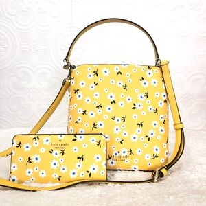 🌸OFFERS?🌸Kate Spade Leather Floral Yellow Set
